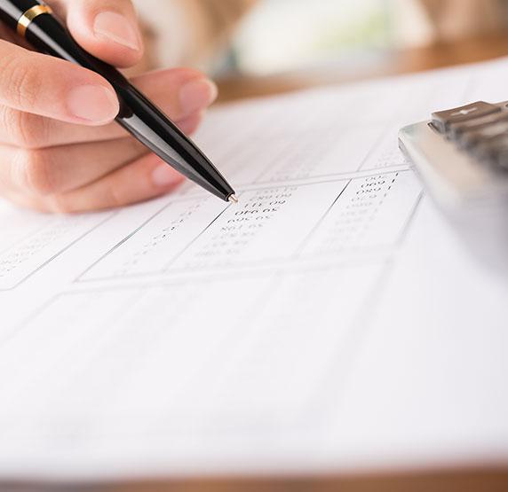 tax return calculate calculator writing